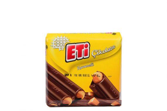 1879001 Eti Milkchoclate W. Caramel 12X6X70Gr