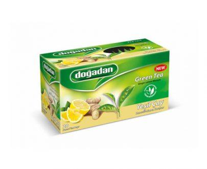 Dogadan Green Tea- Ginger- Lemon Mixture 12x20
