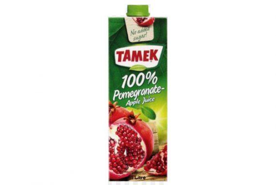 Tamek Juice 12X1Lt Pomegranate Apple 100%