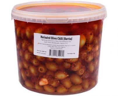 Eda Olives Harissa Garlic 5Kg