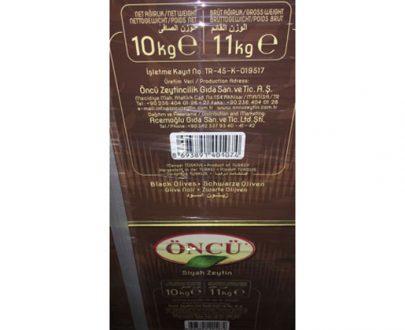 Oncu Olive / Tin / 10Kg / Black / 5Xs